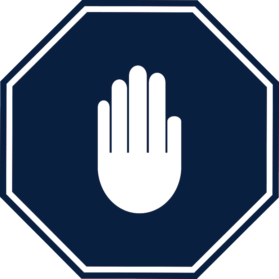 Hand stop sign clipart